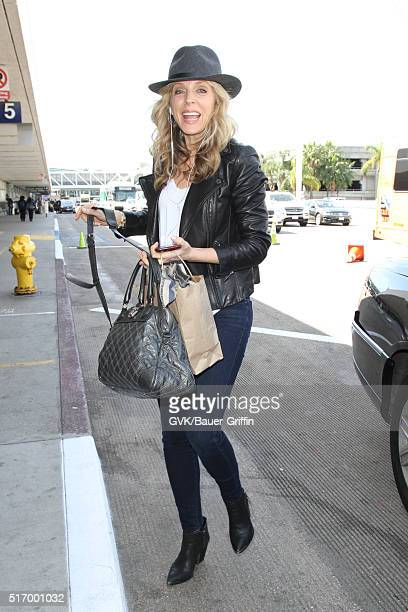 Marla Maples is seen at LAX on March 22 2016 in Los Angeles California
