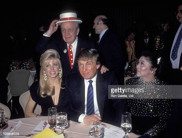 Marla Maples, Joey Adams, Donald Trump, and Imelda Marcos