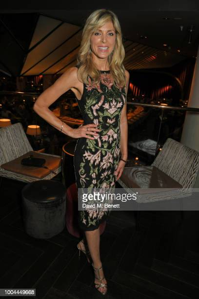 Marla Maples poses at dinner with her daughter Tiffany Trump at Quaglino's on July 23 2018 in London England