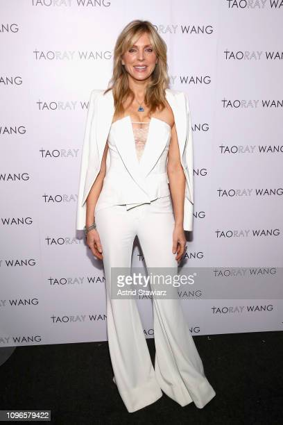 Marla Maples poses backstage for Taoray Wang fashion show during New York Fashion Week The Shows at Gallery II at Spring Studios on February 9 2019...