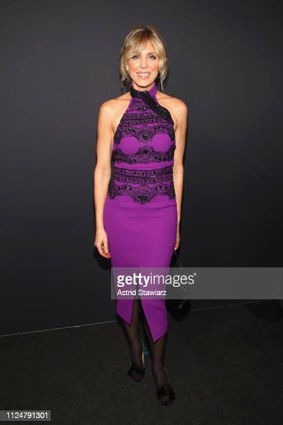 Marla Maples poses backstage for Zang Toi fashion show during New York Fashion Week The Shows at Gallery II at Spring Studios on February 13 2019 in...