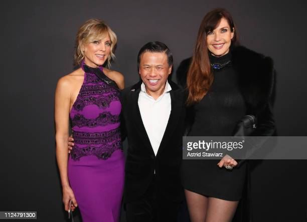 Marla Maples, Zang Toi and Carol Alt pose backstage for Zang Toi fashion show during New York Fashion Week: The Shows at Gallery II at Spring Studios...