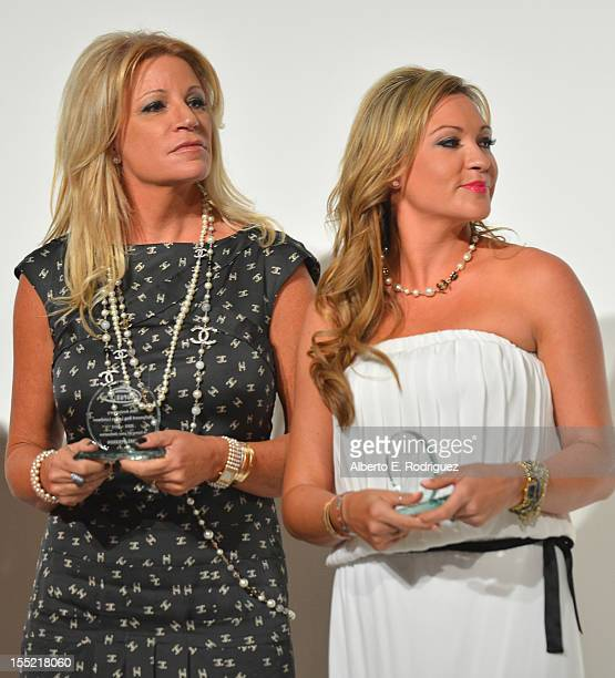 Marla Paxson and Nicole Paxson attend the Lupus LA 10th Anniversary Hollywood Bag Ladies Luncheon at Regent Beverly Wilshire Hotel on November 1 2012...