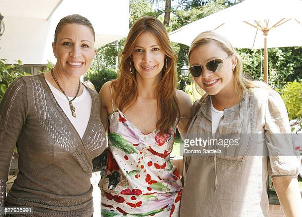 Marla Paxson Dianne Vavra and Nicole Paxson during Dior Beauty Garden Luncheon April 19 2007 at Private Residence in Los Angeles California United...
