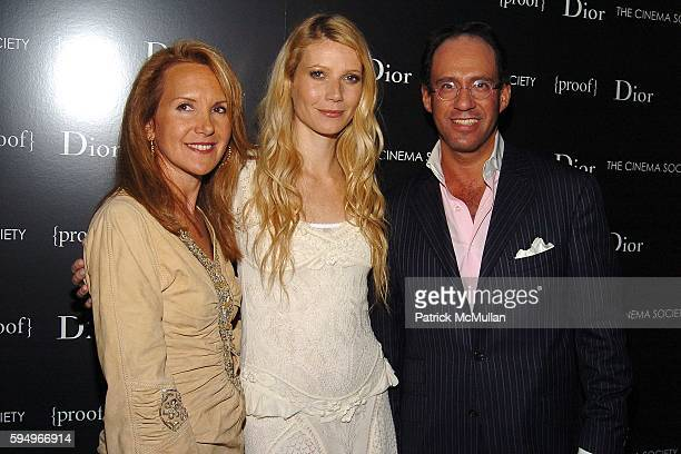 Marla Sabo Gwyneth Paltrow and Andrew Saffir attend DIOR THE CINEMA SOCIETY present a screening of Hart Sharp Entertainment Miramax Films' Proof at...