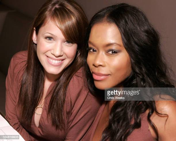 Marla Sokoloff and Golden Brooks during Rachel Pally Spring 2006 Preview at Magnolia Inside and Show at Magnolia in Hollywood California United States