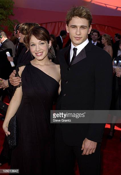 Marla Sokoloff and James Franco during The 54th Annual Primetime Emmy Awards Arrivals at The Shrine Auditorium in Los Angeles California United States