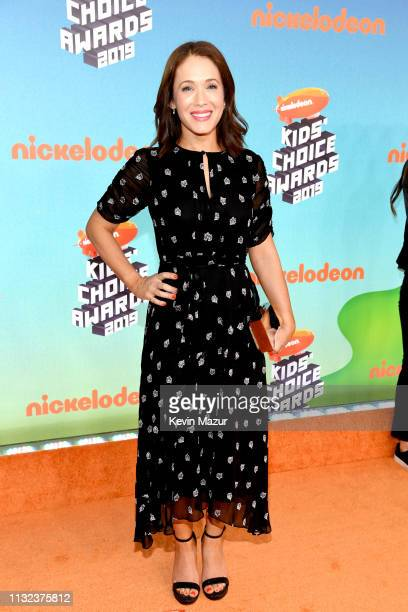 Marla Sokoloff attends Nickelodeon's 2019 Kids' Choice Awards at Galen Center on March 23 2019 in Los Angeles California