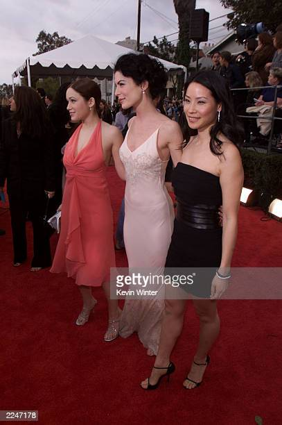 Marla Sokoloff left Lara Flynn Boyle center and Lucy Liu arrive at the 7th Annual Screen Actors Guild Awards held at the Shrine Auditorium Los...