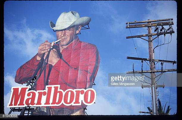 Marlboro Billboard Advertising Cigarettes Is On Display April 30 1997 In Los Angeles Ca As Cigarette Manufacturers Were Trying To Find Ways Out Of...
