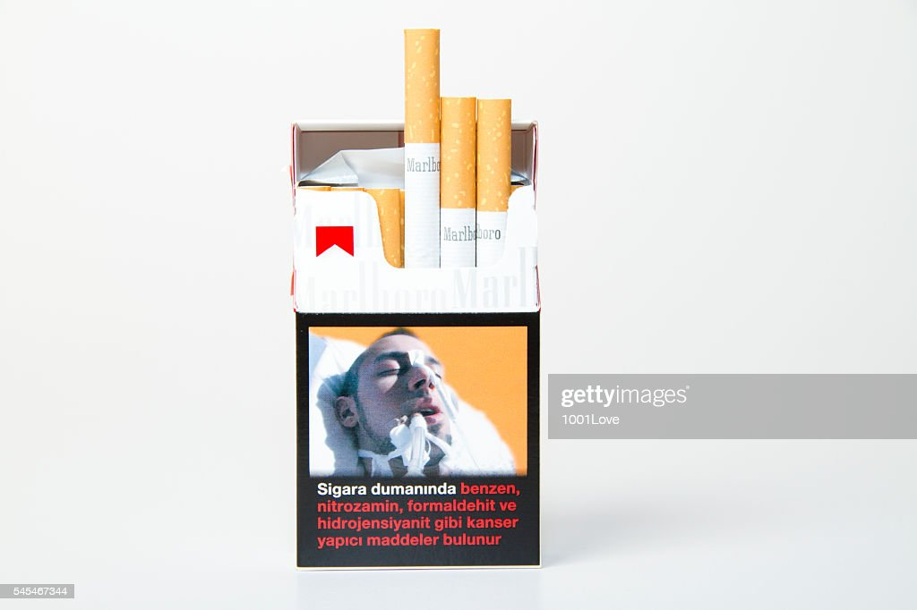 Marlboro Cigarette Pack isolated on white : Stock Photo