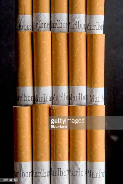 Marlboro cigarettes are arranged for an illustration in Cambridge Massachusetts on Wednesday October 25 2006 Altria Group Inc owner of the world's...