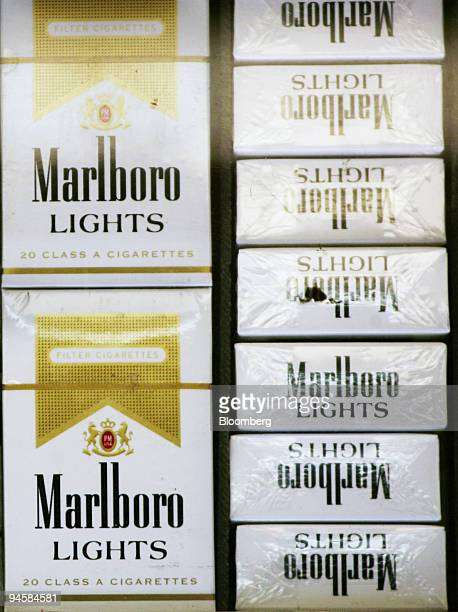 Marlboro cigarettes manufactured by Altria Group Inc are displayed in a store in New York on Wednesday January 31 2007 Altria Group Inc parent of the...