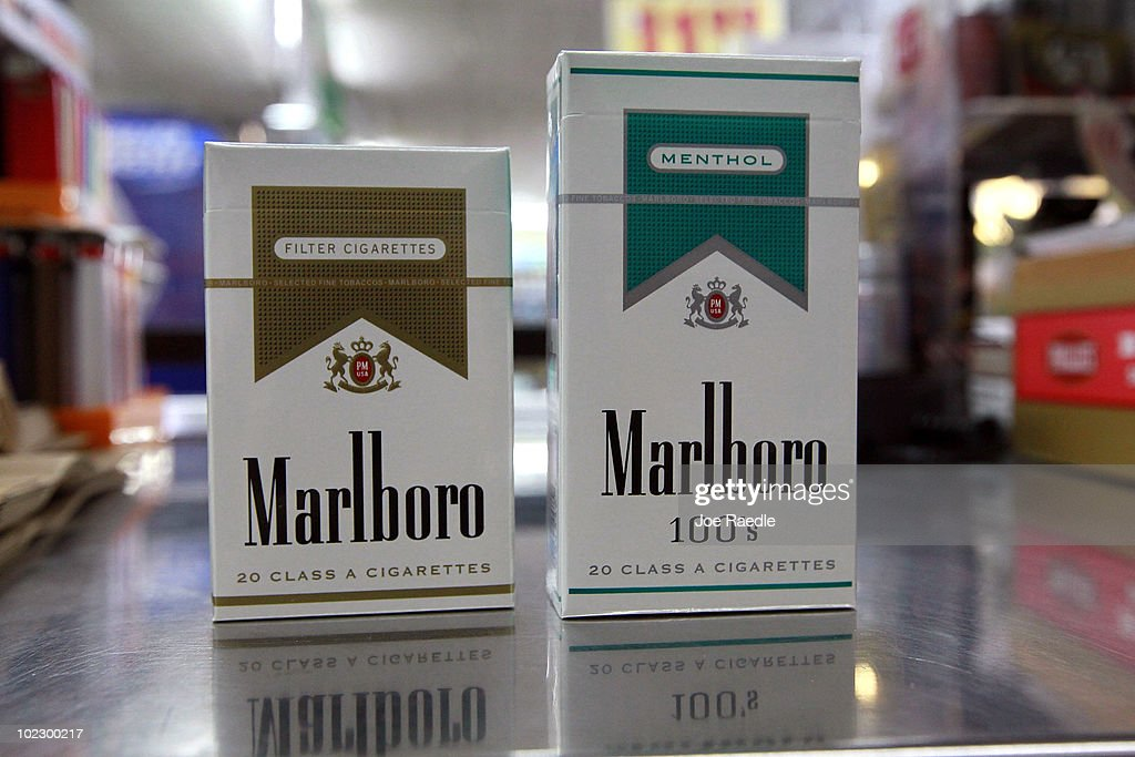 Marlboro Cigarettes With The New Labeling System Are Seen At The Quick Stop  Store On June