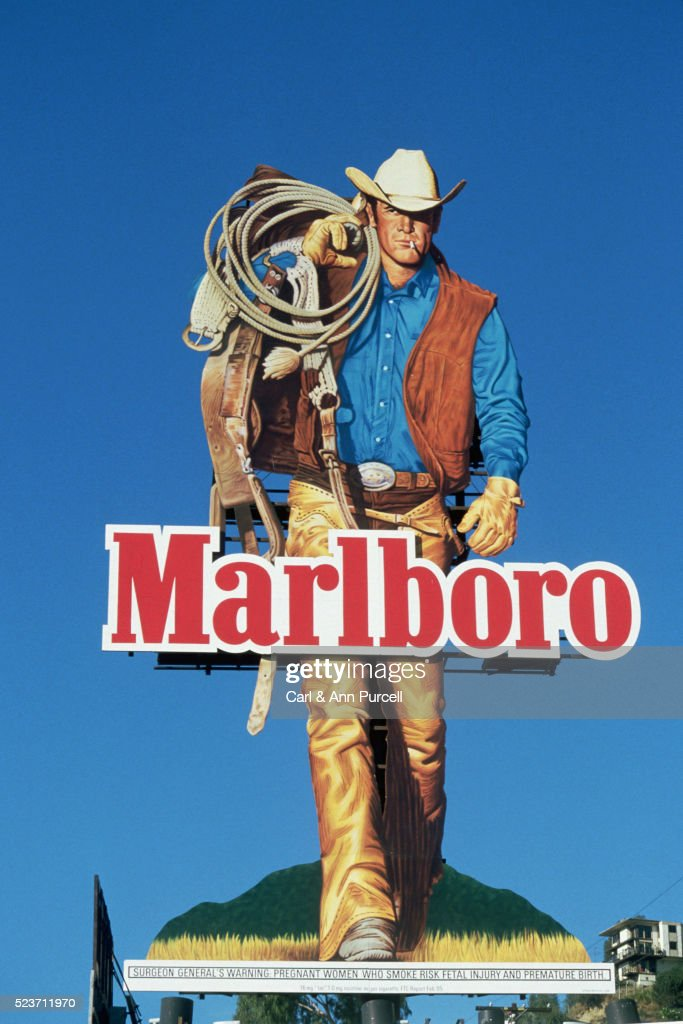 Marlboro Man Billboard Advertisement : Stock Photo