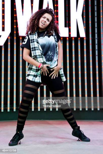 Marlee Hightower performs at Universal CityWalk's music spotlight concert series, featuring JabbaWockeeZ and World of Dance at 5 Towers Outdoor...