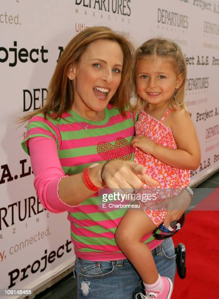 Marlee Matlin and child during The 6th Annual Project ALS Los Angeles Benefit New York City Block Party At Paramount Pictures Sponsored by Departures...