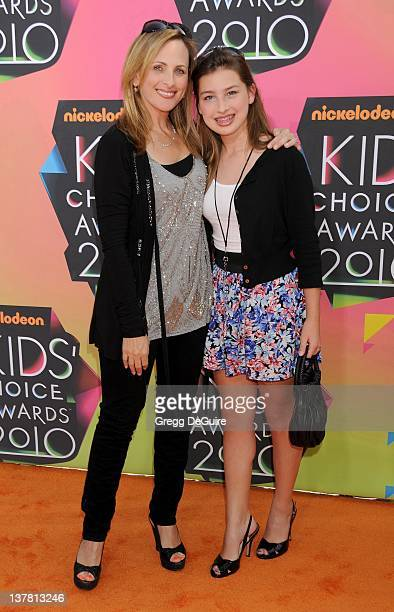 Marlee Matlin and daughter attend Nickelodeon's 23rd Annual Kids' Choice Awards held at Pauley Pavilion at UCLA on March 27 2010 in Los Angeles...