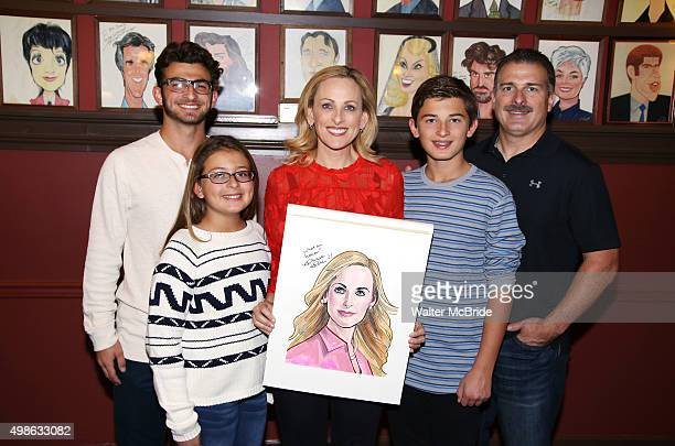 Marlee Matlin and family Kevin Grandalski Brandon Grandalski Tyler Grandalski Isabelle Grandalski attend the Marlee Matlin Sardi's Portrait unveiling...