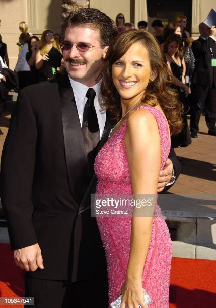 Marlee Matlin and Husband during 2004 Emmy Creative Arts Awards Arrivals at Shrine Auditorium in Los Angeles California United States