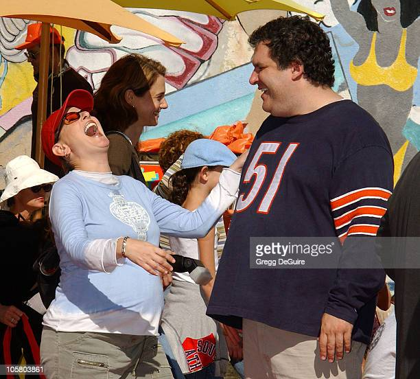 Marlee Matlin and Jeff Garlin during PS ARTS and Old Navy Welcome Celebrities And Their Families to A Creativity Street Fair Benefiting Arts...