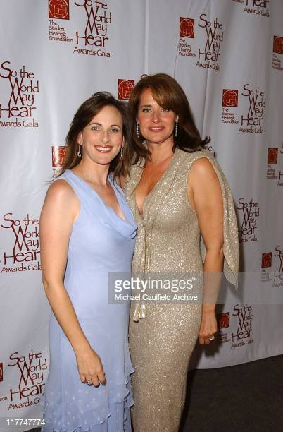 Marlee Matlin and Lorraine Bracco during 'So The World May Hear' Awards Gala All Access at Rivercentre in St Paul Minnesota United States