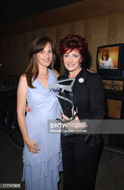 Marlee Matlin and Sharon Osbourne during So The World May Hear Awards Gala All Access at Rivercentre in St Paul Minnesota United States