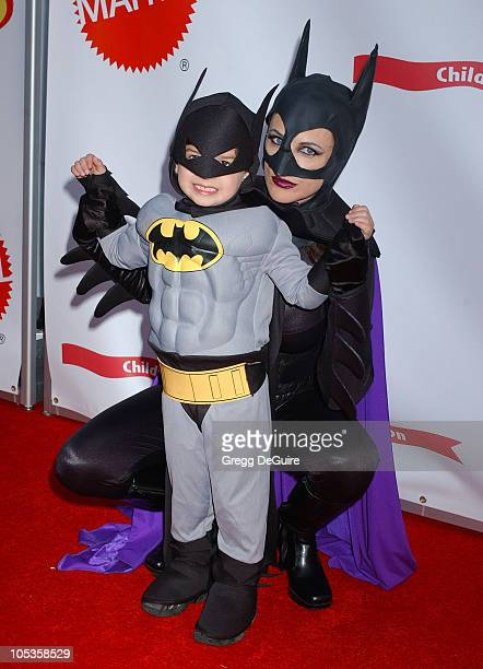 Marlee Matlin and son Brandon during 2004 Dream Halloween Fundraiser For Children Affected by AIDS Foundation at Barker Hangar in Santa Monica...