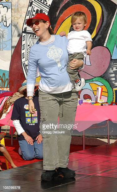 Marlee Matlin and son during PS ARTS and Old Navy Welcome Celebrities And Their Families to A Creativity Street Fair Benefiting Arts Education at...