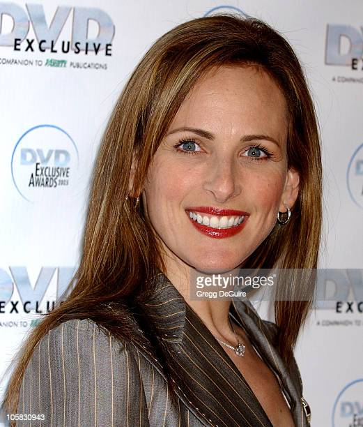 Marlee Matlin during 2005 DVD Exclusive Awards Arrivals at California Science Center in Los Angeles California United States