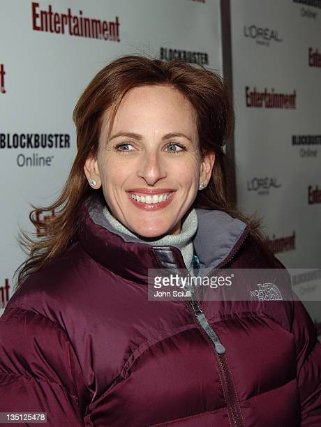 Marlee Matlin during 2006 Sundance Film Festival Entertainment Weekly Sundance Opening Weekend Party Red Carpet at The Shop in Park City Utah United...