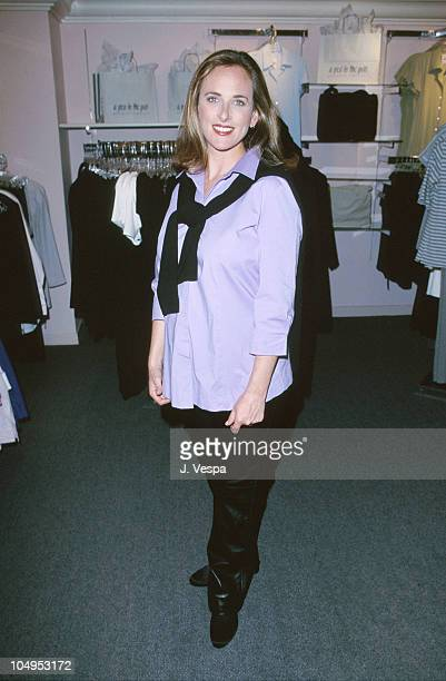 Marlee Matlin during Marlee Matlin Store Shoot clothes by A Ped in the Pod at A Pea in the Pod Store in Beverly Hills California United States