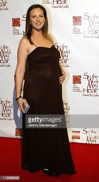 Marlee Matlin during So The World May Hear 2003 Awards Gala at Century Plaza Hotel in Century City California United States