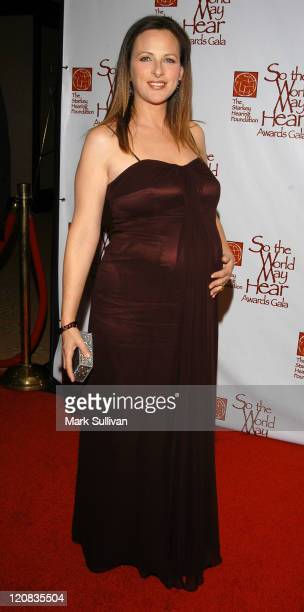 Marlee Matlin during So The World May Hear Awards Gala at Century Plaza Hotel in Century City California United States