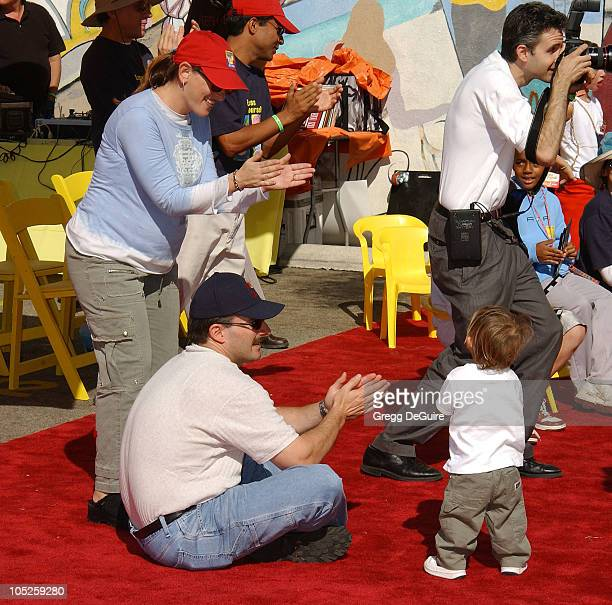 Marlee Matlin husband Kevin and son during PS ARTS and Old Navy Welcome Celebrities And Their Families to A Creativity Street Fair Benefiting Arts...