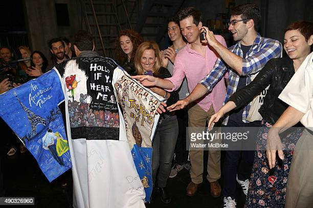 Marlee Matlin Krysta Rodriquez and cast with Van Hughes during the Actors' Equity 'Spring Awakening Gypsy Robe Ceremony honoring Van Hughes at the...