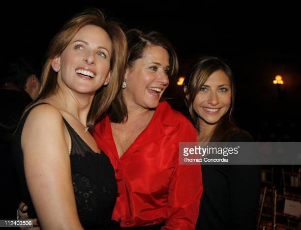 Marlee Matlin Lorraine Bracco and guest during MercedesBenz Fashion Week Fall 2007 Douglas Hannant Front Row and Backstage at Gotham Hall in New York...