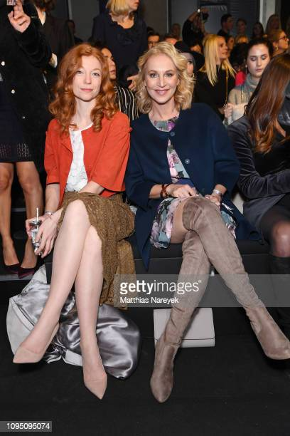 Marleen Lohse and Caroline Beil attend the Riani show during the Berlin Fashion Week Autumn/Winter 2019 at ewerk on January 16 2019 in Berlin Germany