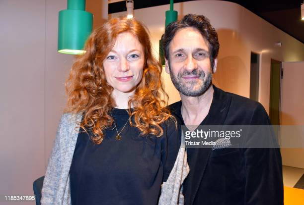 Marleen Lohse and Falk-Willy Wild attend the Audible studios opening at Schumannstrasse on November 28, 2019 in Berlin, Germany.