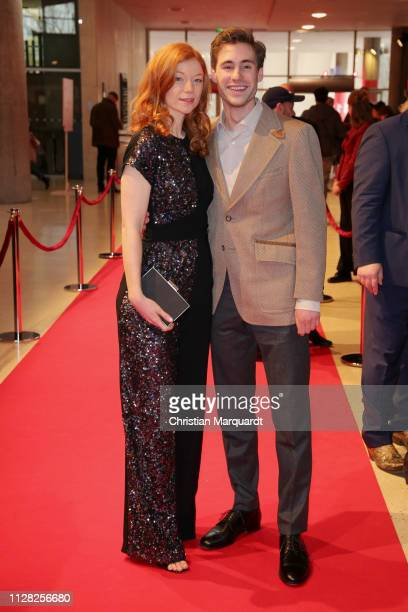 "Marleen Lohse and Jeremy Mockridge attend the premiere of the film ""CLEO"" during the 69th Berlinale International Film Festival at Haus der Kulturen..."