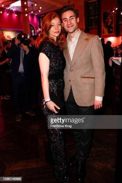 Marleen Lohse and Jeremy Mockridge during the BUNTE BMW Festival Night at Restaurant Gendarmerie on February 8 2019 in Berlin Germany