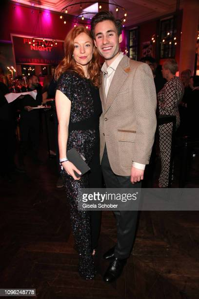 Marleen Lohse and Jeremy Mockridge during the BUNTE BMW Festival Night at Restaurant Gendarmerie during the 69th Berlinale Filmfestival on February 8...