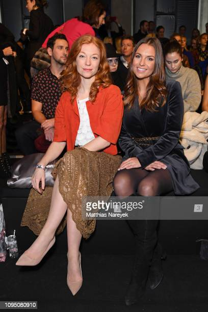 Marleen Lohse and Laura Wontorra attend the Riani show during the Berlin Fashion Week Autumn/Winter 2019 at ewerk on January 16 2019 in Berlin Germany