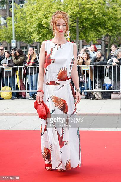 Marleen Lohse arrives for the German Film Award 2015 Lola at Messe Berlin on June 19 2015 in Berlin Germany