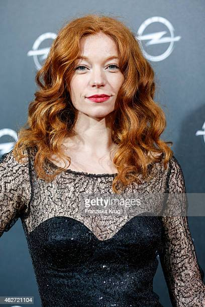 Marleen Lohse attends the 'Corsa Karl Und Choupette' Vernissage on February 03 2015 in Berlin Germany