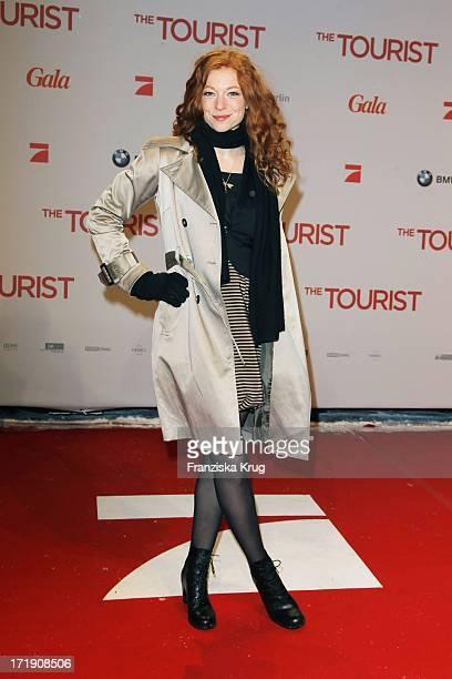 Marleen Lohse Bei Der Premiere Des Films The Tourist Im Cinestar Am Sony Center In Berlin