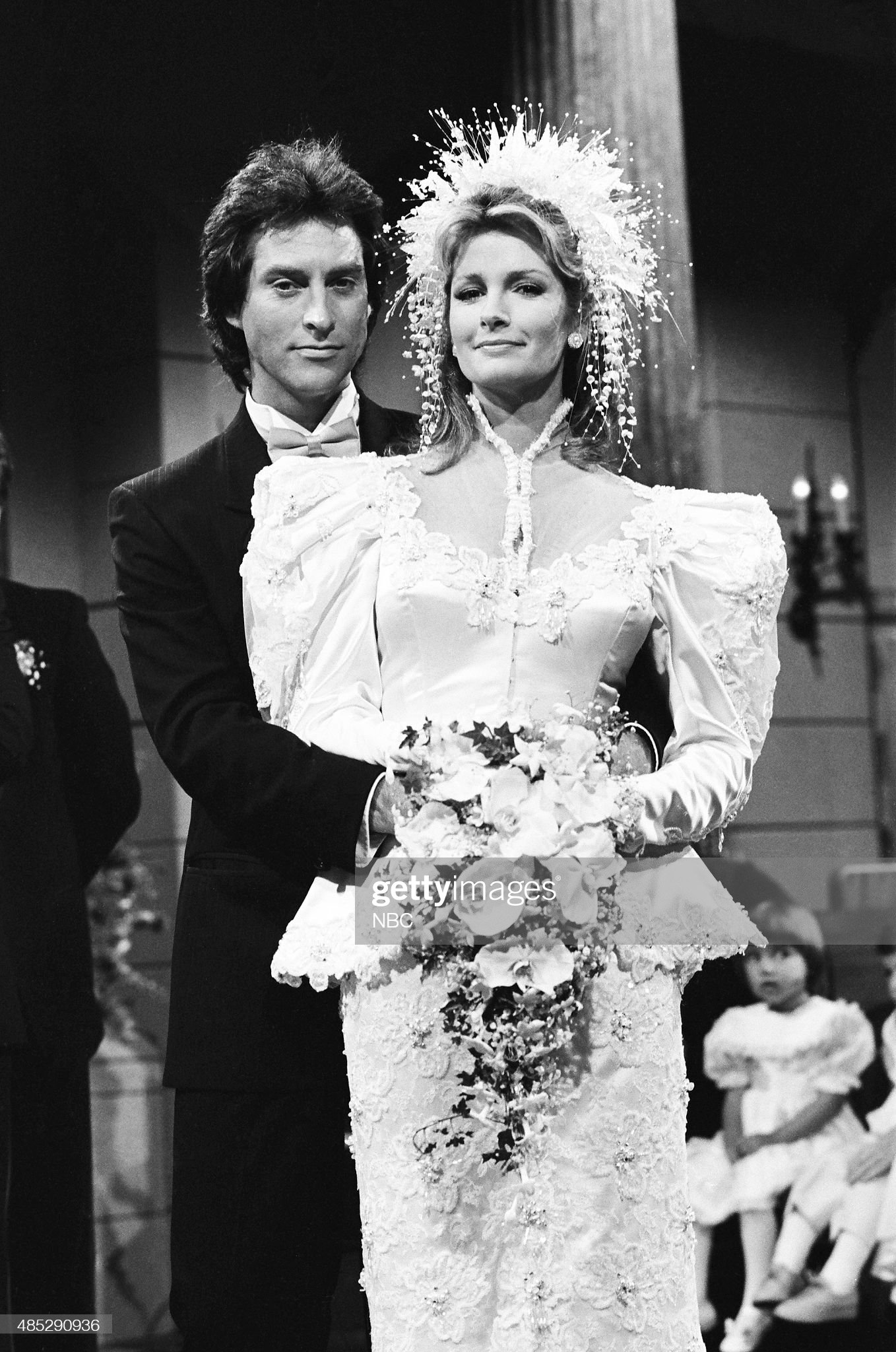 marlena-evans-roman-brady-wedding-pictured-drake-hogestyn-as-roman-picture-id485290936