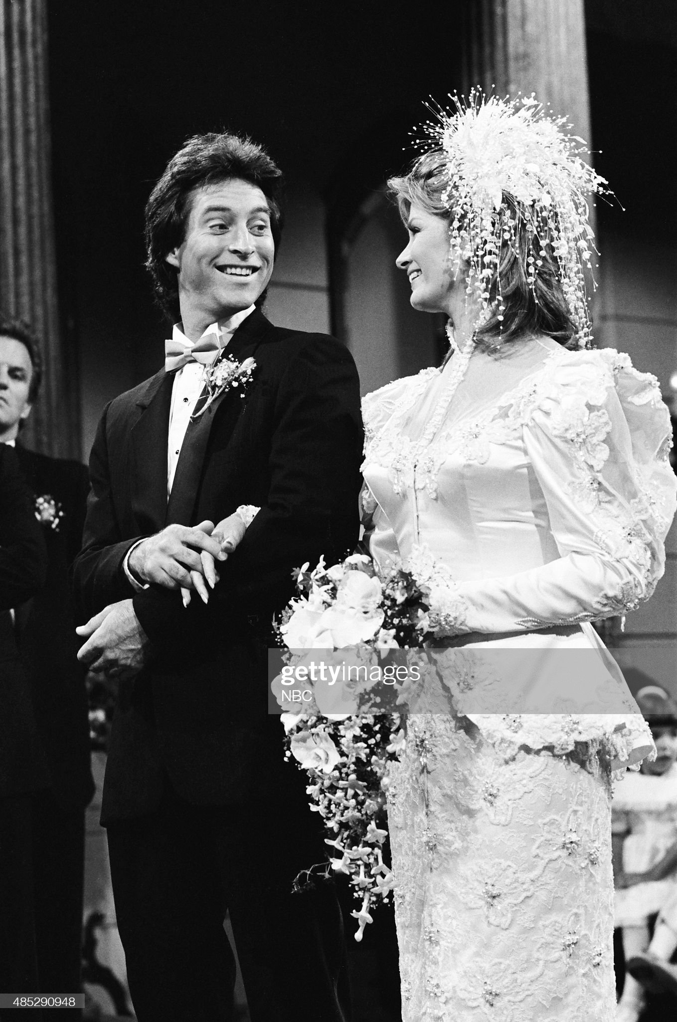 marlena-evans-roman-brady-wedding-pictured-drake-hogestyn-as-roman-picture-id485290948
