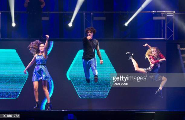 Marlena Ratner Jorge Lopez and Ana Jara perform on stage during Disney show Soy Luna at Palau Sant Jordi on January 5 2018 in Barcelona Spain