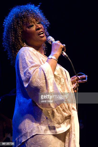 Marlena Shaw performs on stage at Sala Apolo on April 24 2006 in Barcelona Spain
